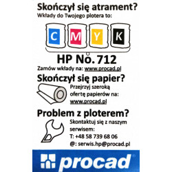 Tusz HP 712 Kolor CMY (3ED80A)