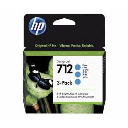 HP 712 Cyan 3 pak (3ED77A)