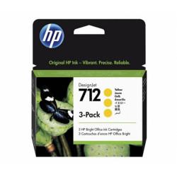 HP 712 Yellow 3pak (3ED79A)