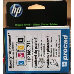 Tusz HP 711 Kolor CMY (CZ137A)